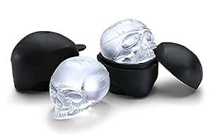 ThinkGeek Skull Ice Mold Makes 2 Ice Skull Molds