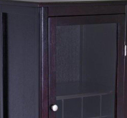 Amazon Winsome Wood Wine Cabinet With Glass Door Espresso