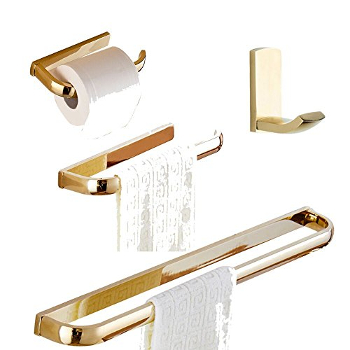 Bigbig habitación 4 piezas Juego de accesorios de baño de latón e1045949ee58