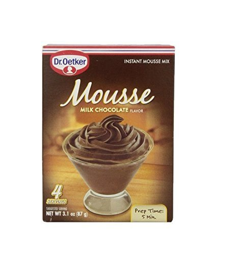 Dr. Oetker Milk Chocolate Mousse Mix, 3.1-Ounce (Pack of 6) (Dark Mousse Chocolate)