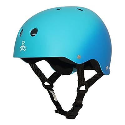 Triple Eight Sweatsaver Liner Skateboarding Helmet, Blue Fade Rubber, Large : Sports & Outdoors