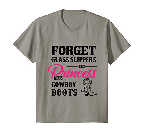 - Kids Womans Cowgirl Cowboy Boots t-shirt for girls 4 Slate
