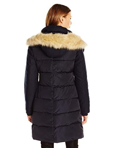 French Connection Women's Faux Wool Down Wind Coat, Utility Blue, L by French Connection (Image #2)
