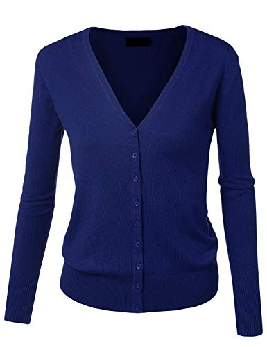 Mode Autunno Forti Cappotto Outwear Base Bolawoo Di neck Single Maniche Lunghe Donna Fashion Maglia Giacca Blu Giacche Scuro Marca Taglie Libero A Tempo V Fine Breasted Elegante qYqUH6S