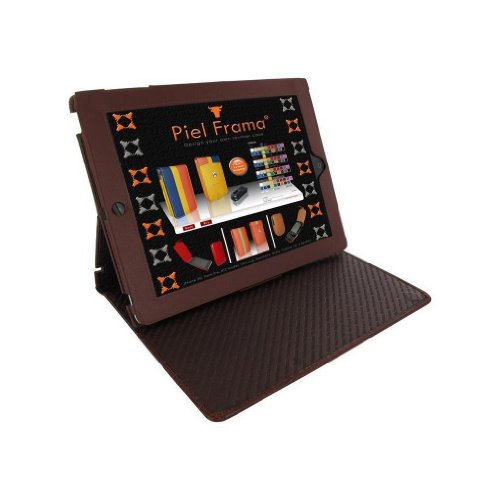 Piel Frama Cinema Crocodile Embossed Leather Standing Case for the iPad 2 & 3 (Brown) by Piel Frama