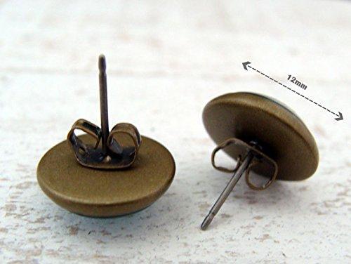 Miss Lovie Boucles d'oreilles cabochon 12mm, pour femmes, Kaléidoscope