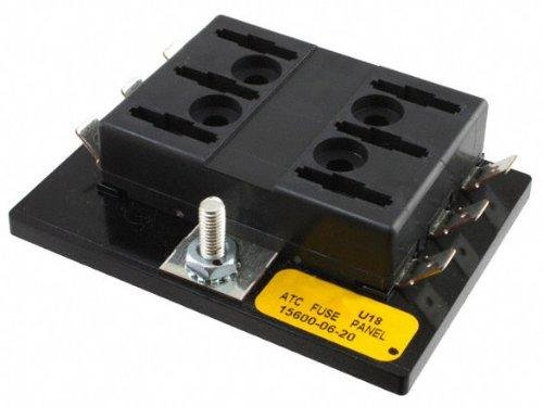 Bussmann BP 15600 06 20 Six Position ATC Fuse Panel 20A Per Position 95A Max Panel 32V Max 1 Pack