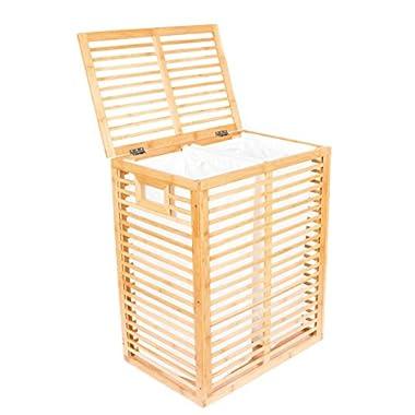 BirdRock Home Bamboo Zen Laundry Hamper | Natural bamboo