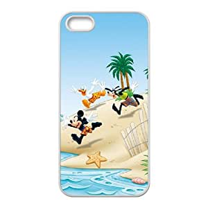 iPhone 5 5s Cell Phone Case White Mickey Mouse and Donald Duck S4Q1EZ
