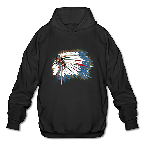 NUBIA Indiana Chief New Style Hooded For Men Black SizeL