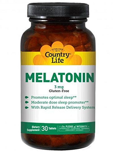3 Mg 30 Tabs (Country Life Melatonin 3 Mg, 30 Tablets by Country Life)