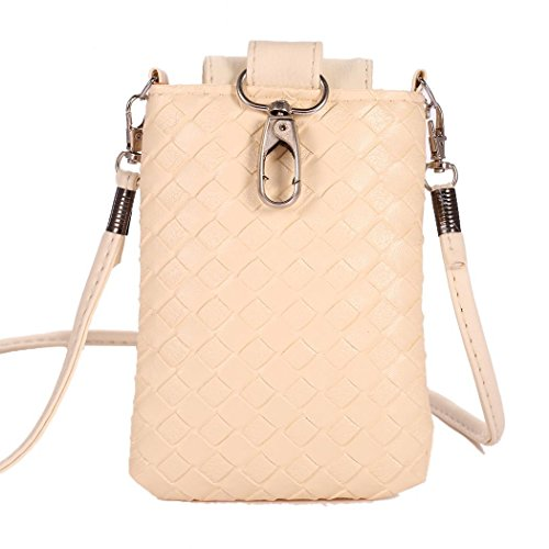 Mini Cellphone Crossbody Flower Bag Change Beige Shoulder Purse Wallet TelDen Pouch 6qxCPq