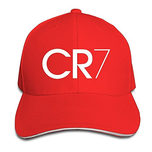 runy-custom-cr7-logo-adjustable-sandwich-hunting-peak-hat-cap-red