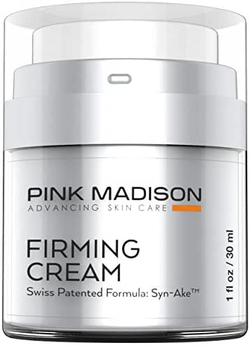 Anti Aging Face Cream. Neck and Face Tightening Cream - Botox like Firming Cream - Contains Synake - Loose Skin Tightening Anti Wrinkle Swiss Peptide Technology. Beats Any Firming Lotion.