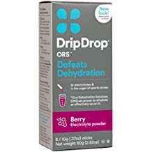 Drip Drop ORS 10g Electrolyte Hydration Powder Sticks, Berry, 8 Count