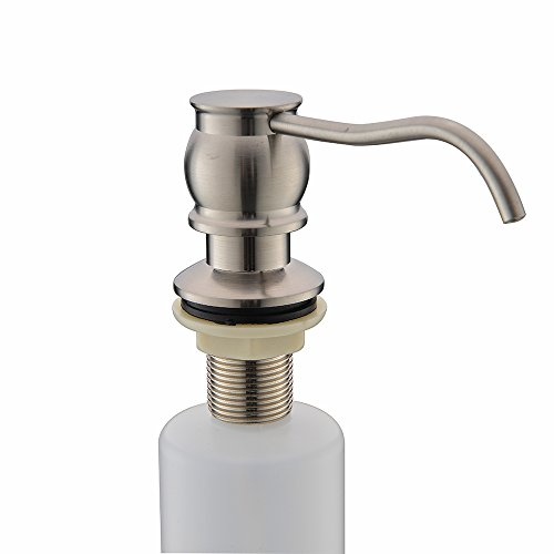 VCCUCINE Antique Country Deck Mount Brushed Nickel Kitchen Sink Granite Countertop Hand Pump Replacement Soap Dispenser, Stainless Steel Liquid Dish Dispenser by VCCUCINE (Image #2)