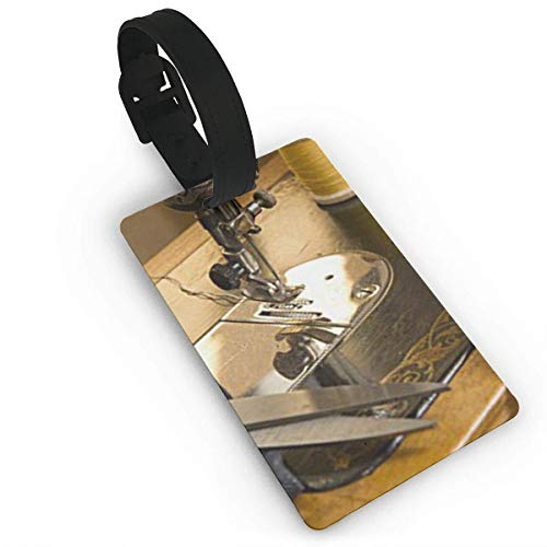 - BJtiananmen Vintage Sewing Machine Accessories Luggage Tags with Print for Suitcases,Flexible PVC Travel ID Sturdy Identification,Travel Accessories Suitcase Tags Apply Luggage Tag