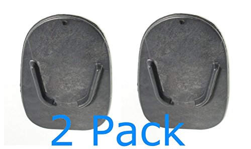 MOTORCYCLE KICKSTAND PLATE BIKER'S KICK STAND PAD 2-Pack Plastic