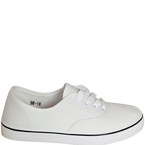 fifteen - Zapatos de cordones de Material Sintético para mujer Blanco blanco Blanco - blanco