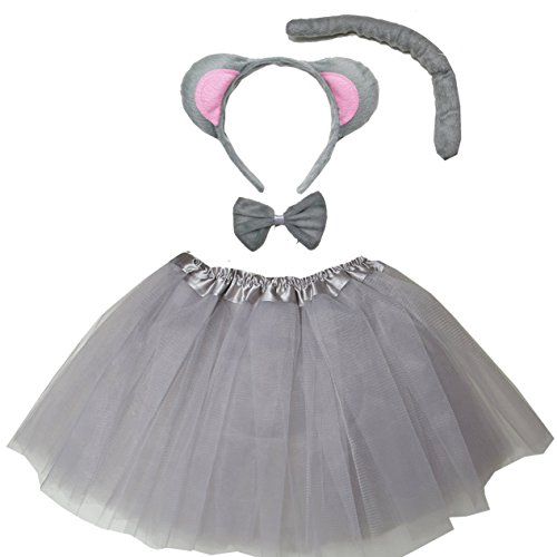 Kirei Sui Kids Costume Tutu Set Gray Mouse -