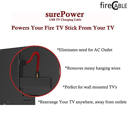 Large Product Image of TV Powered Wireless Cable for Streaming Sticks (Powers Your Streaming Stick Directly from TV, eliminating Hanging Power Cords)