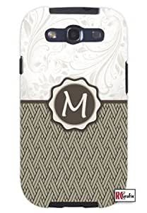 Cool Painting Monogram Initial Letter M Unique Quality Hard Snap On Case for Samsung Galaxy S4 I9500 - White Case