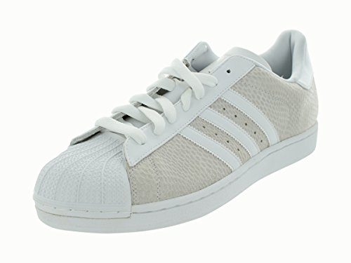 Adidas Originali Mens Superstar Casual Sneake Crema / Bianco