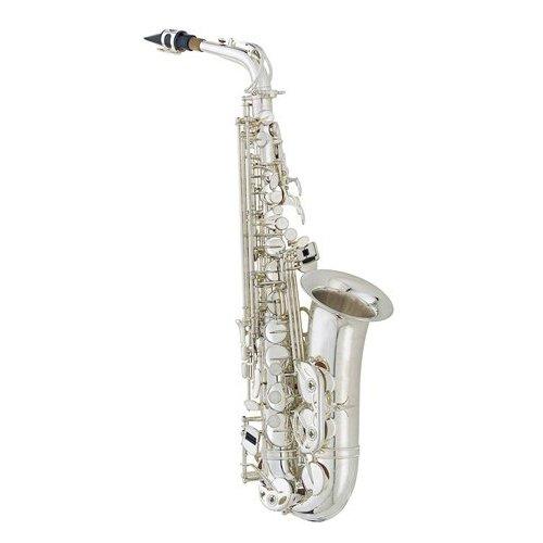 Silver Alto Saxophone Pop Performance Pack - Alto Sax w/Case, Accessories, Pop Performances for Sax Book & Warranty