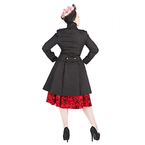 Steampunk Hearts Coat London Roses And Frock Negro Militar Gótico vqxBaY7wCq