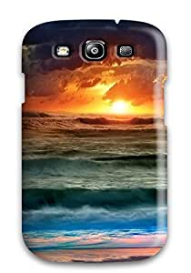 Unique Design Galaxy S3 Durable Tpu Case Cover Colorful Sunset Clouds Water Evening Colors Nature Other