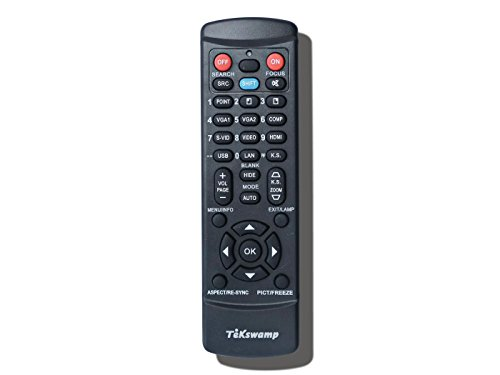 Panasonic N2QAYB000164 Replacement TeKswamp Video Projector Remote Control by Tekswamp (Image #1)