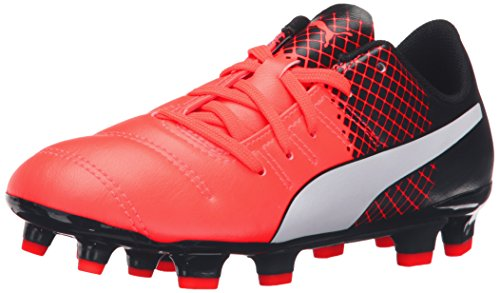 PUMA Evopower 4.3 Tricks Fg Jr Soccer Shoe (Little Kid/Big Kid), Red Blast/Puma White, 11 M US Little Kid (Shoes Kids Soccer Puma)