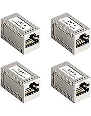 4 stycken CAT6-koppling LAN-kabel adapter nätverkskabel kopplingar patchkabel Ethernet kabeladapter anslutning RJ45 kopplingsadapter för förlängning Ethernet-kabel