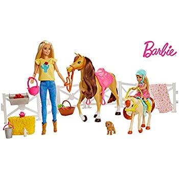 Amazon.com: Barbie On The Go Ultimate Stable Playset: Toys ...