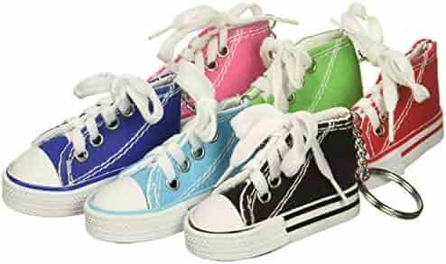 bedada4c8a43 Rhode Island Novelty Lot of 12 Canvas Sneaker Tennis Shoe Chucks Keychain  Party Favors