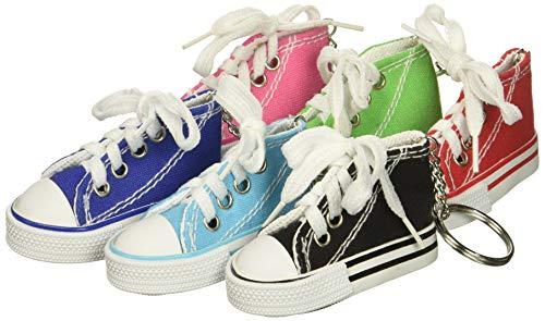 72d8b462558 Rhode Island Novelty 723905913137 Lot of 12 Canvas Sneaker Tennis Shoe  Chucks Keychain Party Favors