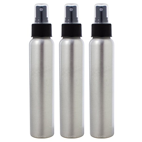 Aluminum Travel Bottle (Aluminum Refillable Spray Bottle Mister - 4 oz (3 Pack) + Travel Bag)