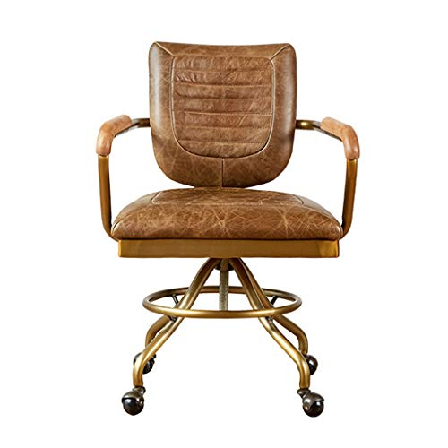Desk Chairs Office Products Office Chair Retro Boss Chair European Comfortable Swivel Chair Home Computer Chair Office…