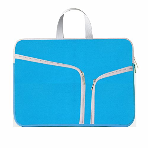 HESTECH-Neoprene-Soft-Sleeve-Case-for-MacBook-12-inch-MacBook-Air-116-and-Laptop-up-to-12-Ultrabook-Chromebook-Bag-Cover---Lake-Blue