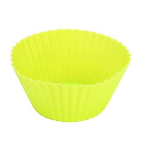 Vi.yo Moldes para cupcakes, 10 unidades, reutilizables, de silicona, apilables
