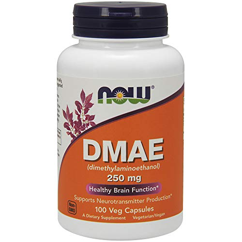 Dmae Dimethylaminoethanol 100 Tablets - NOW Supplements, DMAE (Dimethylaminoethanol) 250 mg, 100 Veg Capsules