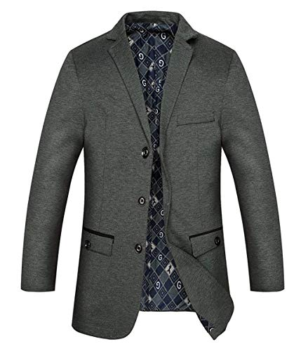 Elegante Casual Uomo Lavoro Manica Giacca Risvolt Blau Con Grau Adelina Coat Cappotto Da Lunga nx0YXwEqAB