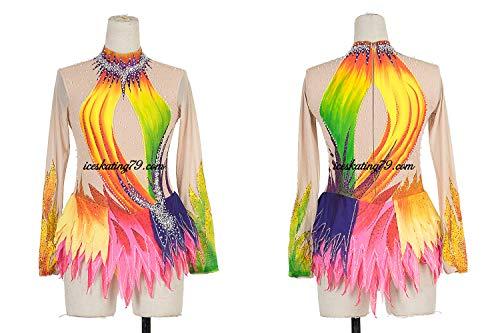 bb5aeb9a8 Ice Skating Dress/Girl Custom/Figure Skating Clothe/Twirling/Leotard/Baton  Custom/Women/Rainbow/Multi Colour