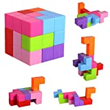 Magnetic Building Blocks, Brainteaser Puzzles Magnetic Tiles, 7pcs Magnetic Magic Cube/Magnetic Bricks Toys for Kids and Adults, Stress Relief Educational Construction IQ Test