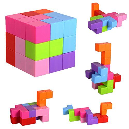 Magnetic Building Blocks  Brainteaser Puzzles Magnetic Tiles  7Pcs Magnetic Magic Cube Magnetic Bricks Toys For Kids And Adults  Stress Relief Educational Construction Iq Test