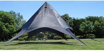 CLP Carpa de Estrella para Eventos XL I Carpa de Araña de Tejido I Carpa de Camping con Revestimiento de PU I Carpa para Eventos 40m² I Color: Azul