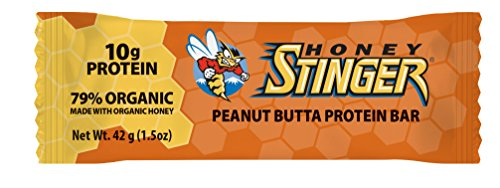 Honey Stinger Protein Bar, Peanut Butta, Sports Nutrition, 1.5 Ounce (Pack of 15)