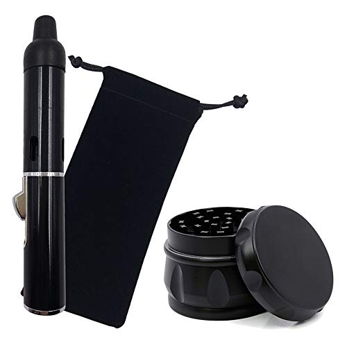 - Portable Metal All in One Pipe, Detachable, for Herbs (Black) + 2.5 inch Herb Grinder