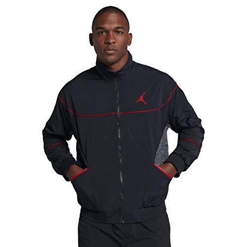NIKE Jordan AJ 3 Vault Men's Jacket (Black/University Red, Large)
