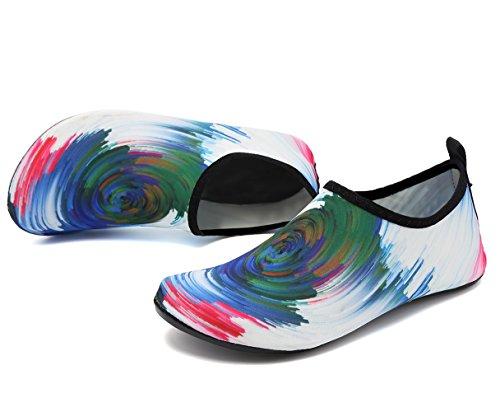 adituob Sportschuhe Weiß für Aqua Schwimmen Damen Pool Herren Socken üben Barfuß Strand Wasser qp6SrqZ